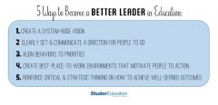 5 Ways to Become a Better Leader in Education