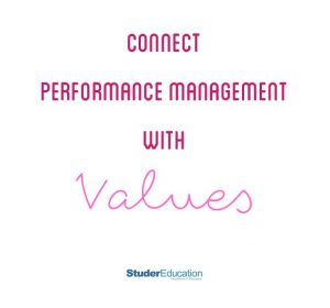 connect perfmorance management with values